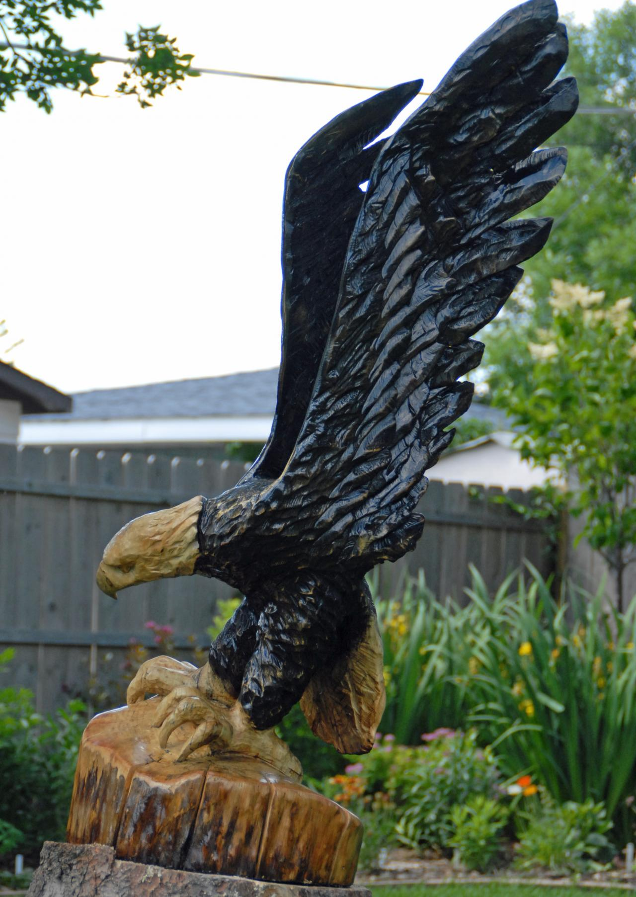 Jay ray s chainsaw carving birds